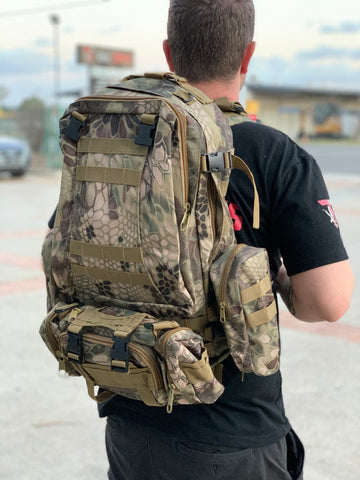 Large Military Style Backpack (Scale Camo)