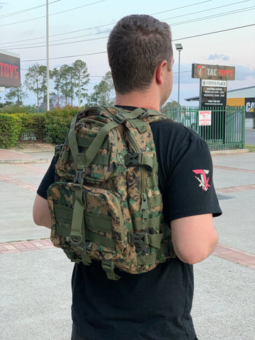 Medium Military Style Backpack (Woodland Digi)