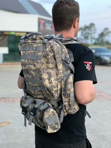 Large Military Style Backpack (Digi Camo)