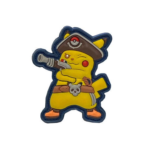 Pikachu with Gun Patch - (Vests, Shirts, Helmets)