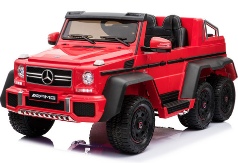 6x6 Mercedes G63 AMG - Ride on Car Kids Toy *Licensed & Genuine* (Red)