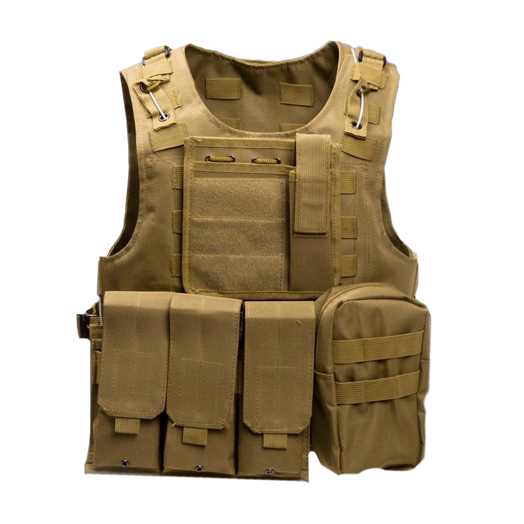 Tactical Combat Vest (Tan)