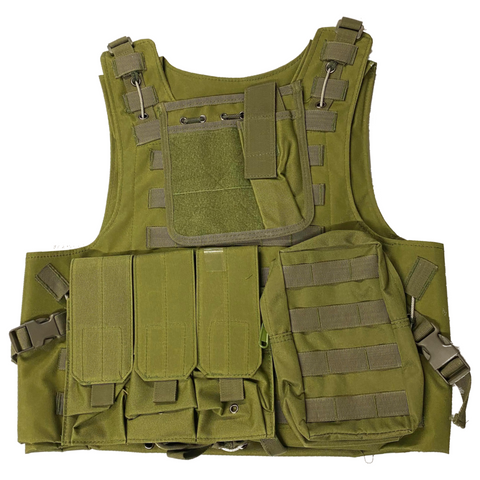 Tactical Combat Vest (GREEN)