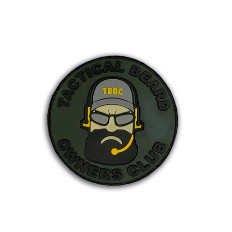 Tactical Beard Owners Club - 3D Rubber Velcro Patch