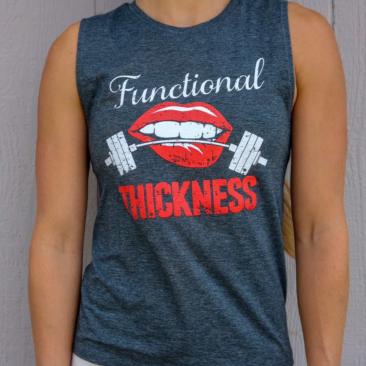 Functional Thickness Women's Muscle Tank (Denim Blue)
