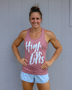 High on Lifts Racerback Tank (Mauve)