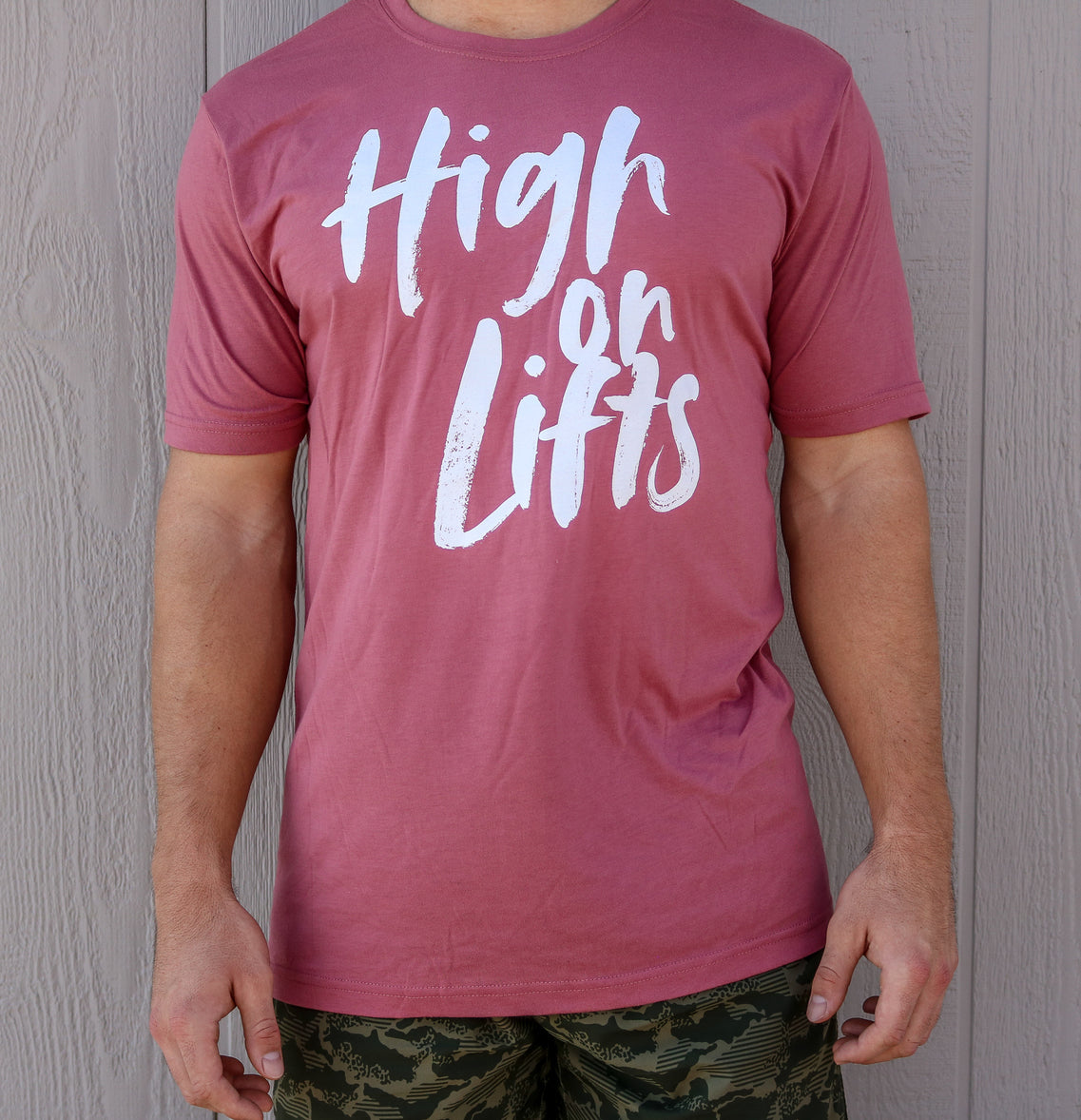 High on Lifts Tee (Mauve)