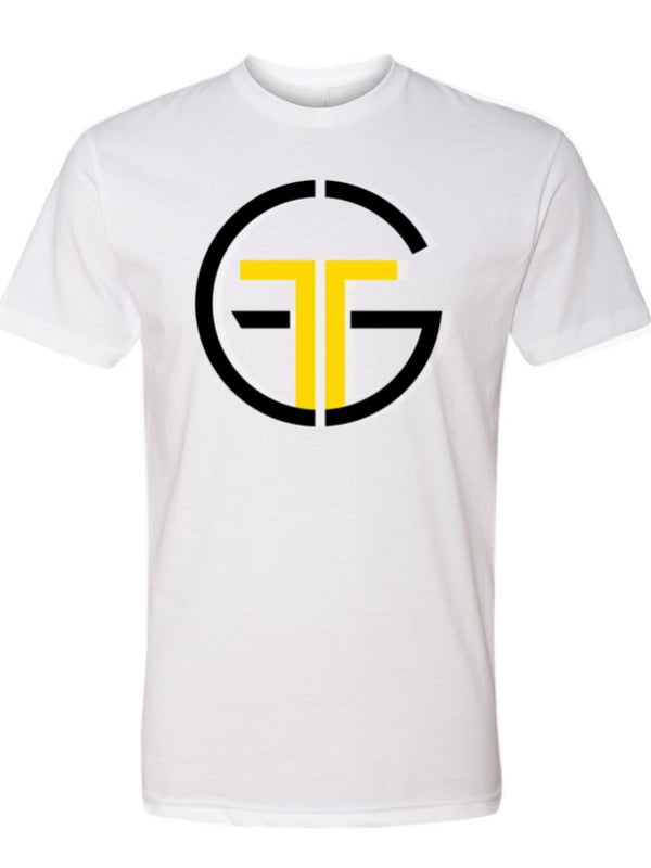 Go Far Fitness Crew Neck Tee (White)