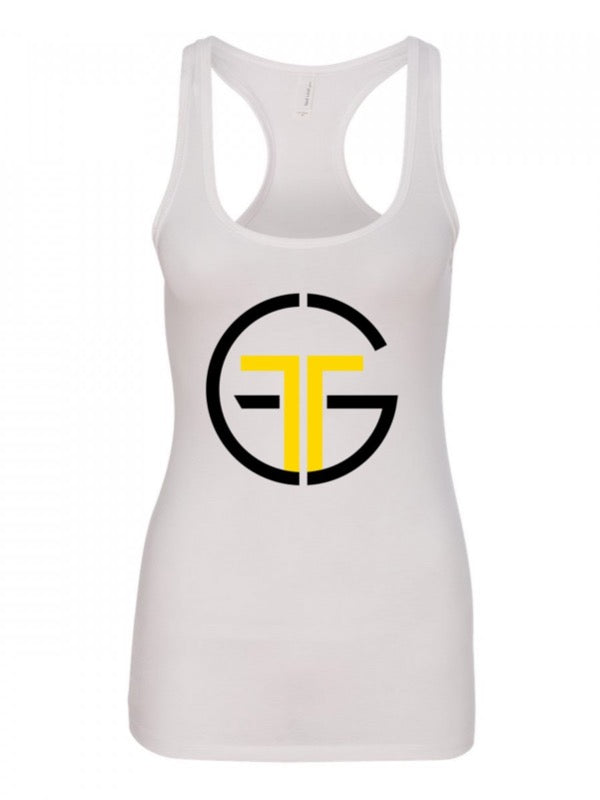 Go Far Fitness Tri-Blend Racerback Tank (White)