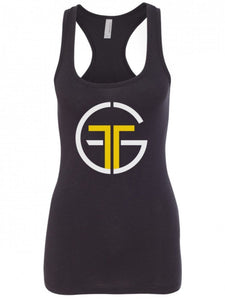 Go Far Fitness Tri-Blend Racerback Tank (Black)