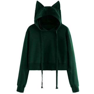 2f430590969 Womens Cat Long Sleeve Hoodie Sweatshirt Hooded Pullover Tops Blouse