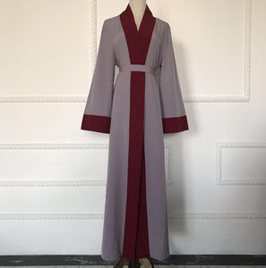 Open Front Abaya with Belt -  Selsabeel