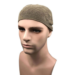 Cotton Knitting Prayer Hat in Solid colors -  Selsabeel