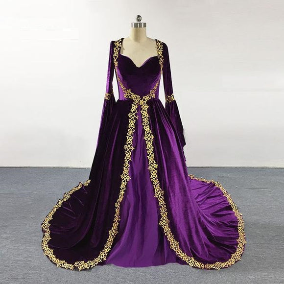 Violet Gold Evening Gown