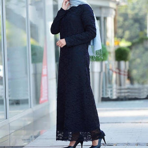 Modest Pure Lace Dress -  Selsabeel