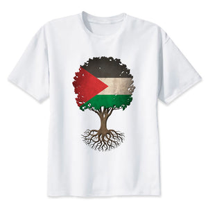 Palestine Tree of Life Flag T Shirt -  Selsabeel