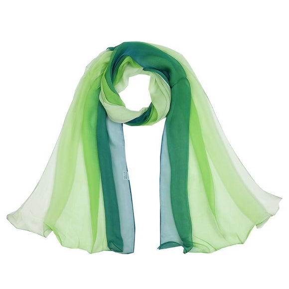 Silk Scarf/Hijab with Gradient colors -  Selsabeel