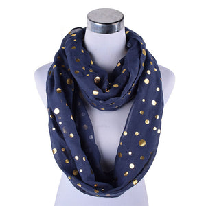 Viscose Scarf/Hjab with Golden Dots -  Selsabeel