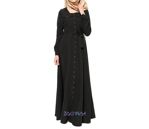 Classic Turkish Delight Abaya in Black -  Selsabeel
