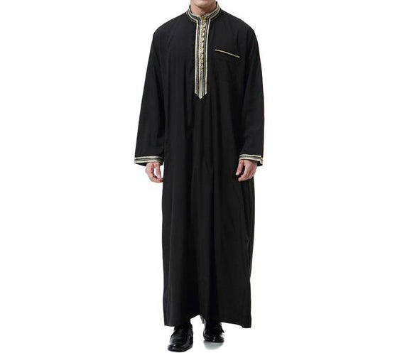 Stylish Jubba/Thobe with Embroidery and Buttons -  Selsabeel