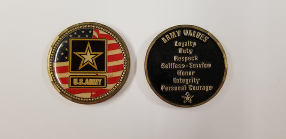 Army Values Coin : SKU : 100