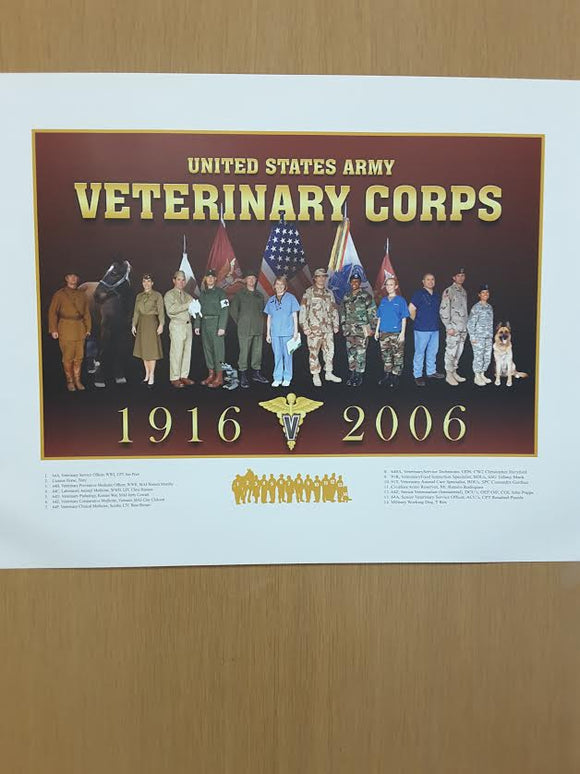 Vet. Corps Anni. Poster 23x35