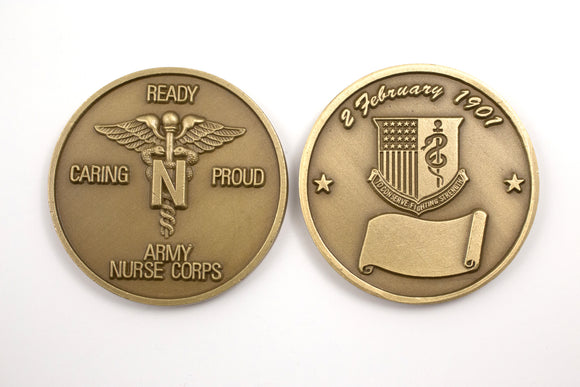 Nurse Brass Coin : SKU : 111