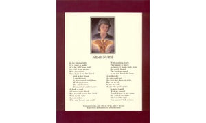 Army Nurse Poem 8x10 : SKU : 1285