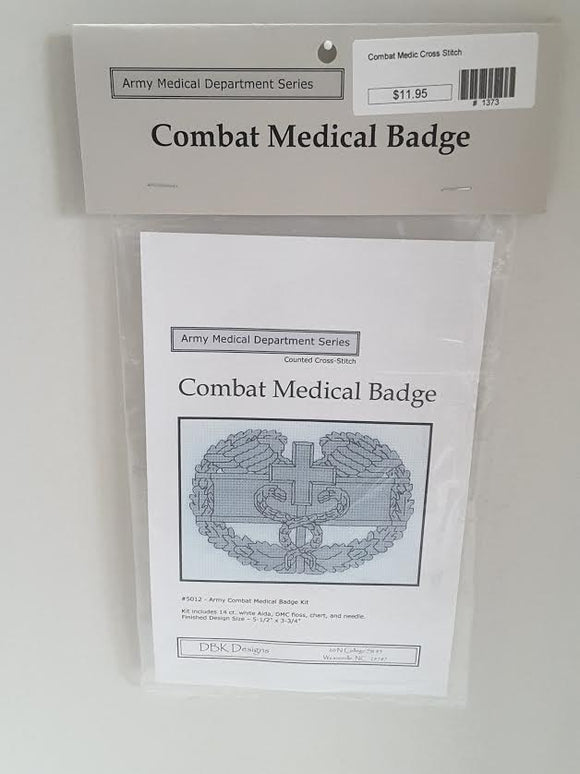 Combat Medic Cross Stitch