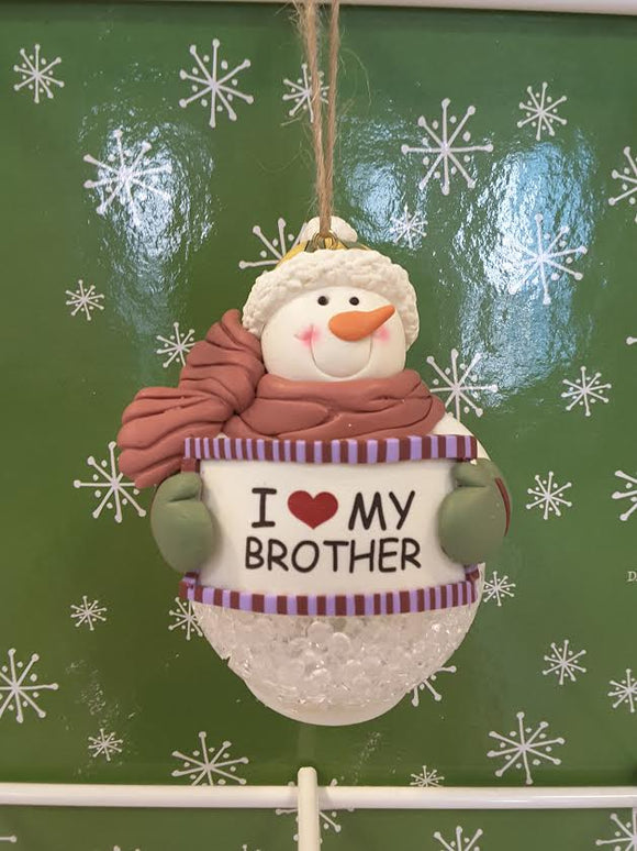 I love my brother Snowman
