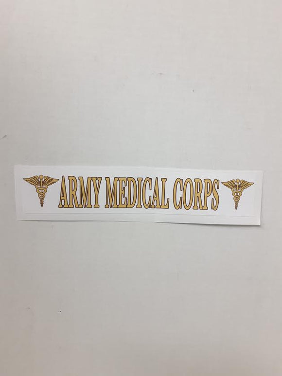 Army Medical Corps Bumper Stick