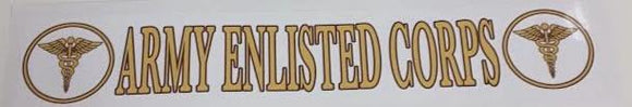 Army Enlisted Bumper Sticker