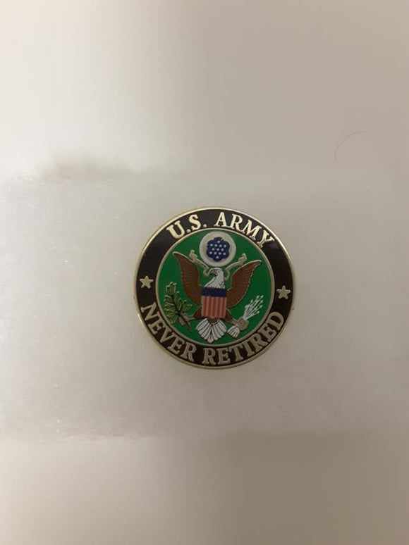 PIN  US Army Never Retired