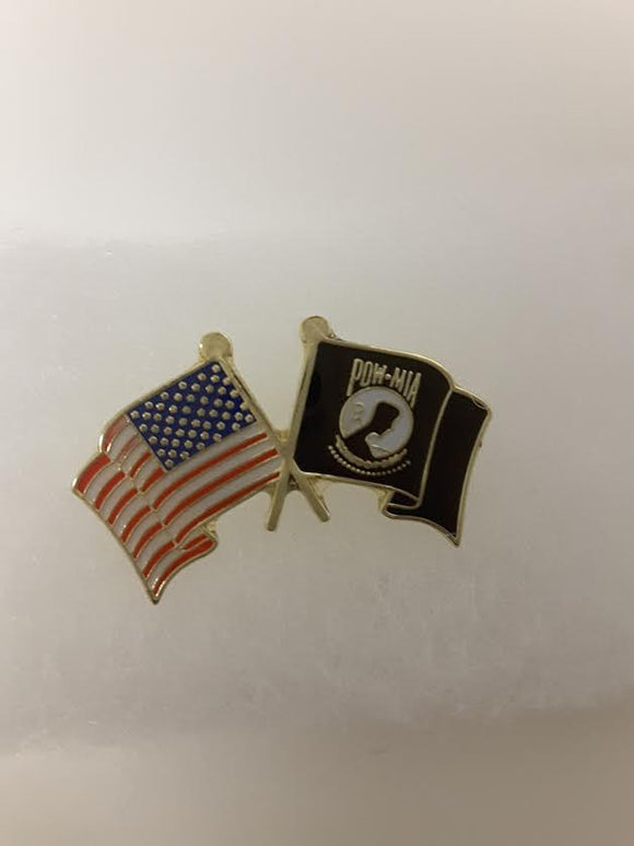 PIN  Pow Mia Flags