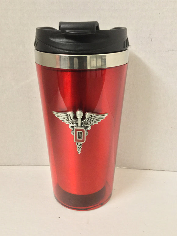 Pewter Travel Mug Dental Corps