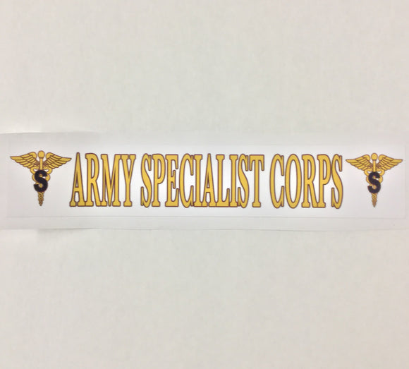 Army Specialist Bumper Sticker