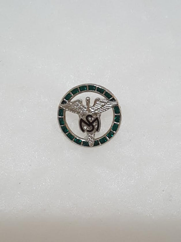 PIN MSC GREEN STONE