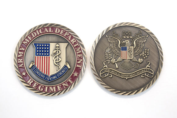 Regimental Color Coin 2 Sid : SKU : 181-1 OR 181-2
