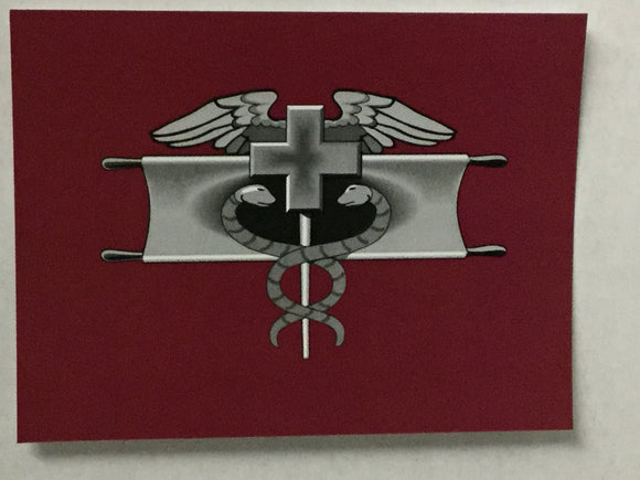 Combat Medic Badge Blank Cards