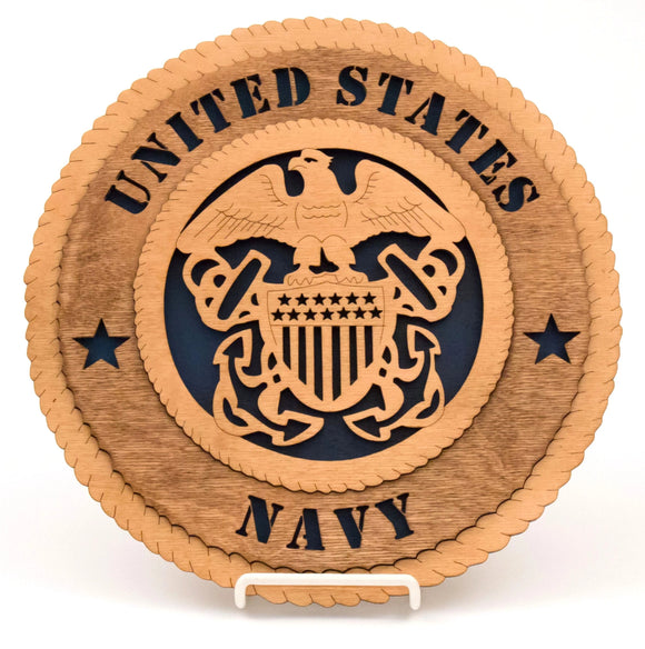 3D Wall Plaque Navy