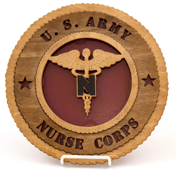 3D Wall Plaque Nurse Corps : SKU : 738