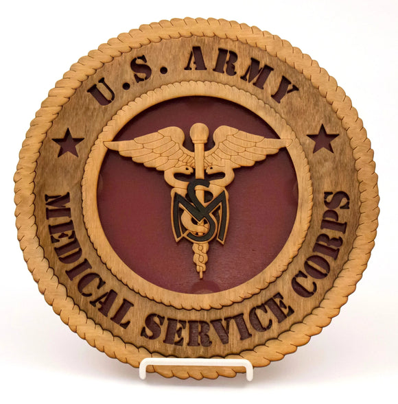 3D Wall Plaque Med Svc Corps : SKU : 745