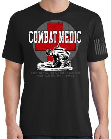 Combat Medic Red Cross T Shirt : SKU : 1937-1940