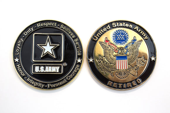 Army Retired Coin : SKU : 133