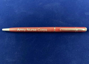 Army Nurse Corps Maroon Pen