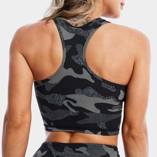 Baylee Camo Top - Ibiza Fit Girl