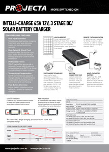Projecta 45 amp DC to DC charger with MPPT solar regulating