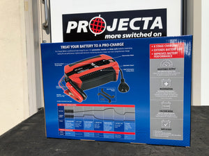 PC800 Projecta pro-charge 8amp 12v battery charger in box