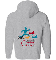 One With Cats 2 Sided Zip Hoodie