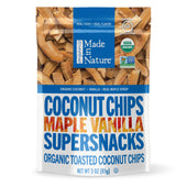 Organic coconut chip snacks